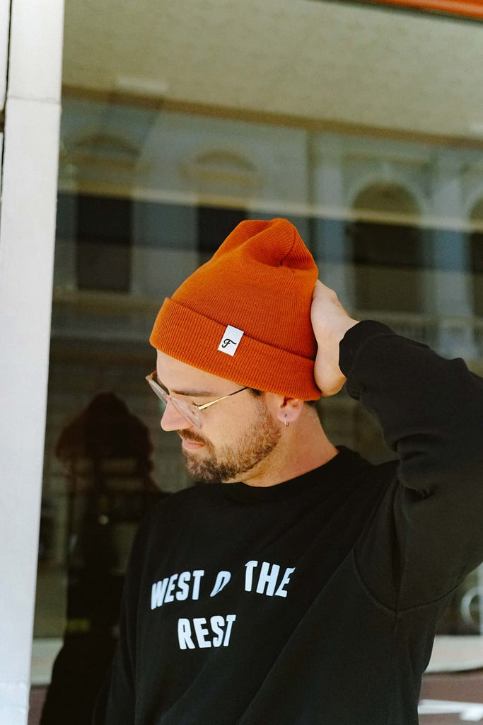 Freo Goods Co Winter Beanie in Copper. Compendium Design Store, Fremantle. AfterPay, ZipPay accepted.