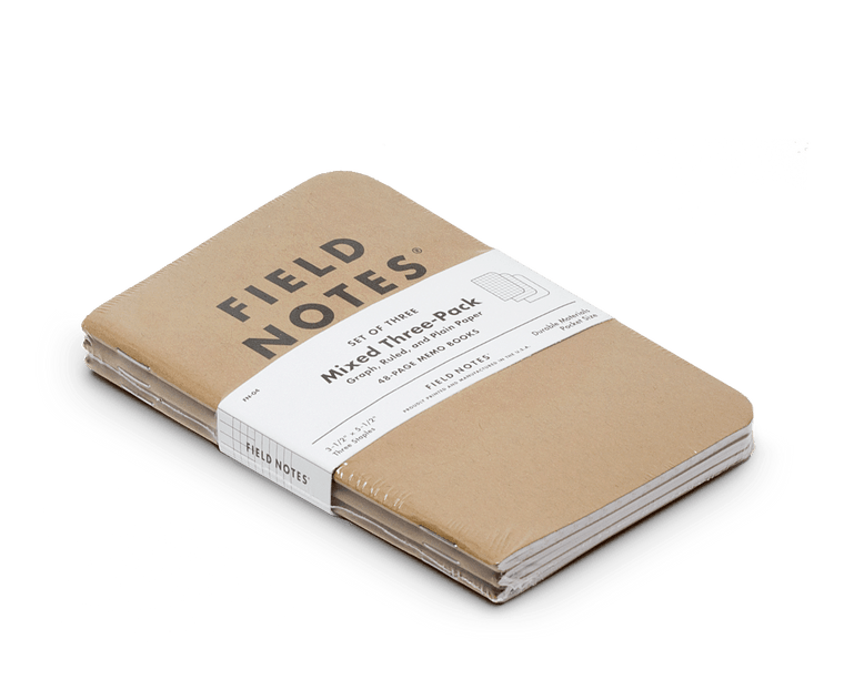 Field Notes Notebooks Original Kraft Edition · 3-Pack (1 of each)