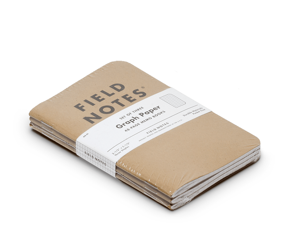 Field Notes notebooks Original Kraft Edition · 3-Pack (Graph paper). Field Notes. Compendium Design Store. AfterPay, ZipPay accepted.