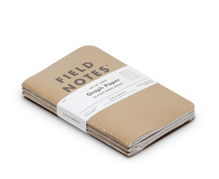 Field Notes notebooks Original Kraft Edition · 3-Pack (Graph paper)