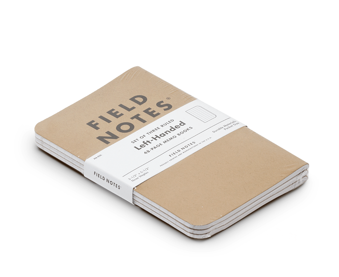 Field Notes Notebooks Original Kraft Left Handed Edition (Ruled). Compendium Design Store, Fremantle. AfterPay, ZipPay accepted.
