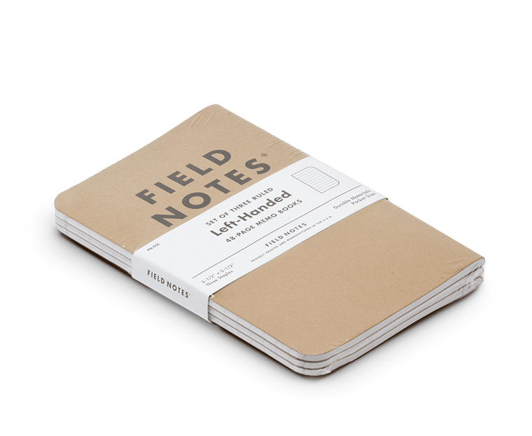 Field Notes Notebooks Original Kraft Left Handed Edition (Ruled)