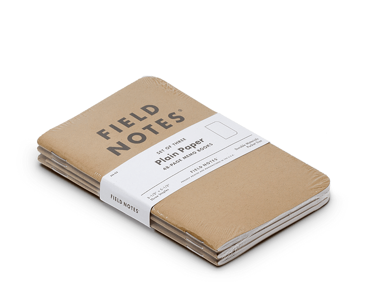 Field Notes notebooks Original Kraft Edition · 3-Pack (Plain paper)