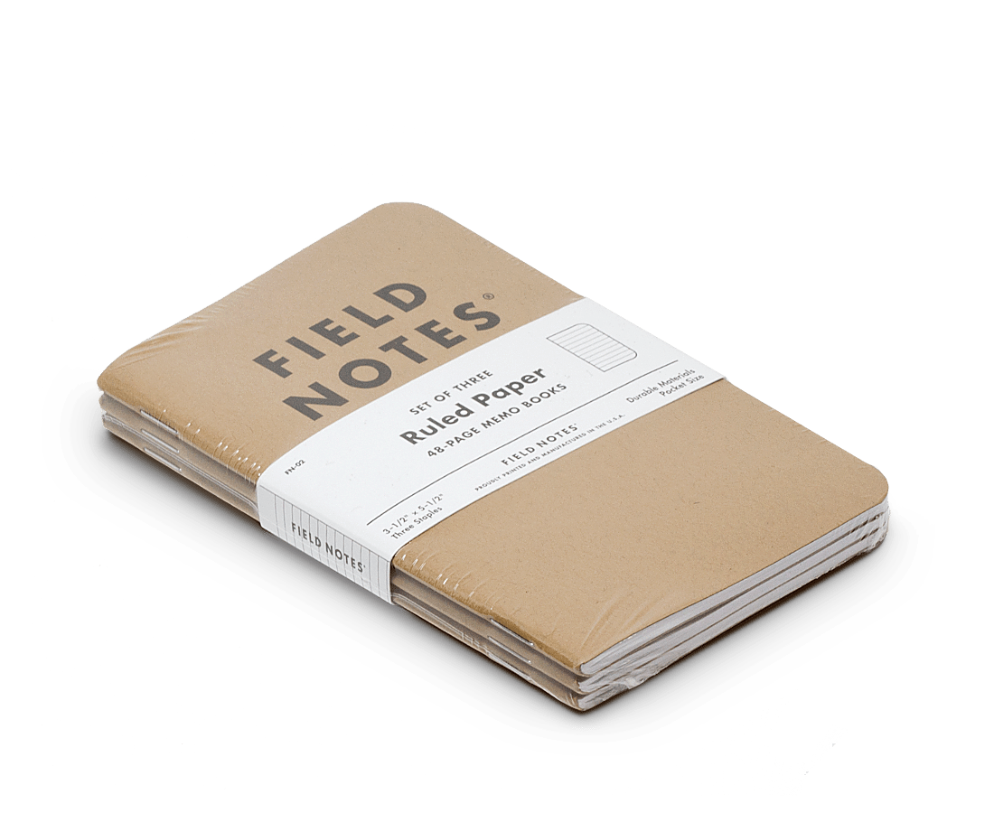 Field Notes notebooks Original Kraft Edition · 3-Pack (Ruled paper). Field Notes. Compendium Design Store. AfterPay, ZipPay accepted.