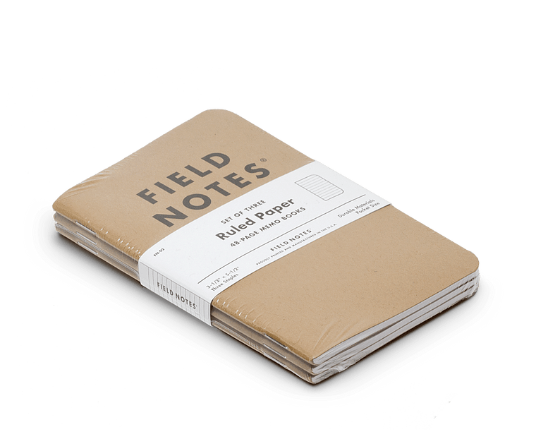 Field Notes notebooks Original Kraft Edition · 3-Pack (Ruled paper)