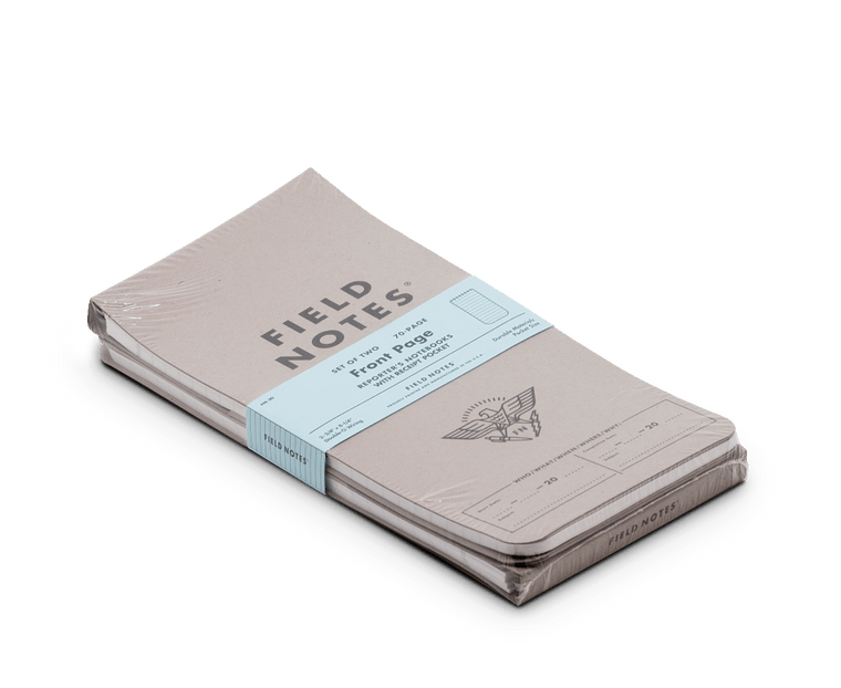 Field Notes 'Front Page' Reporter's Notebook 2 Pack
