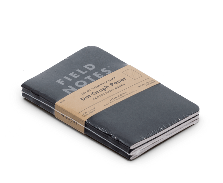 Field Notes notebooks Pitch Black Edition 3-Pack (Memo Book)