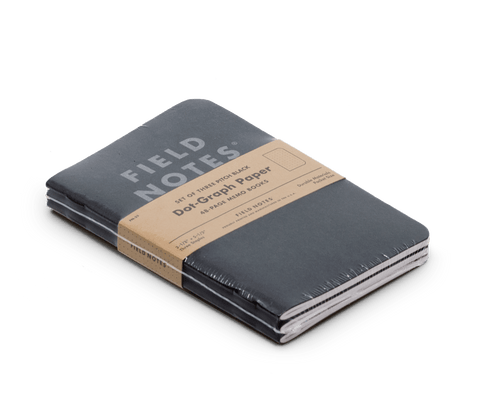 Field Notes notebooks Pitch Black Edition 3-Pack (Small)