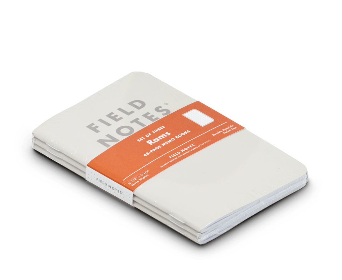 Field Notes notebooks 'Rams' Edition · 3-Pack (Dot-Graph paper)