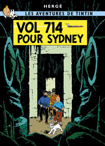 The Adventures of Tintin: 714 Pour Sydney Poster in French. 50x70cm