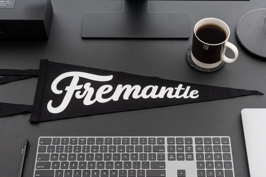 Fremantle Pennant Flag. Compendium Design Store, Fremantle. AfterPay, ZipPay accepted.