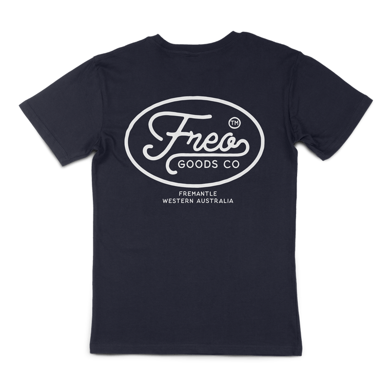 Freo Goods Co Organic Cotton T-Shirt #1 in Navy