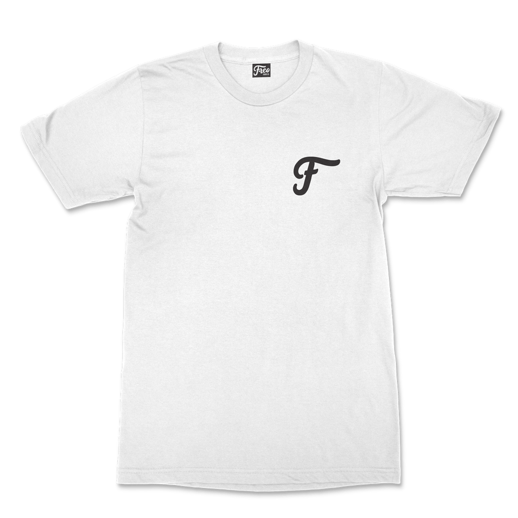 Freo Goods Co Organic Cotton T-Shirt #2 in White. Compendium Design Store, Fremantle. AfterPay, ZipPay accepted.