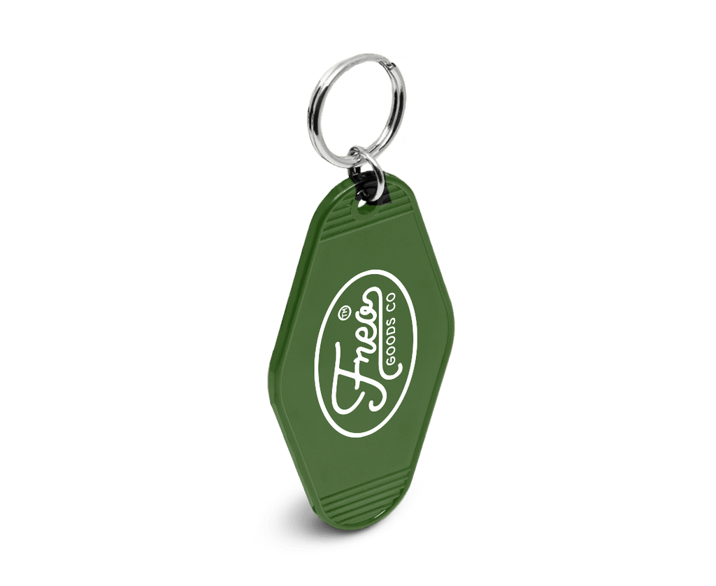 Freo Goods Co Key Fob in Army Green. Compendium Design Store, Fremantle. AfterPay, ZipPay accepted.