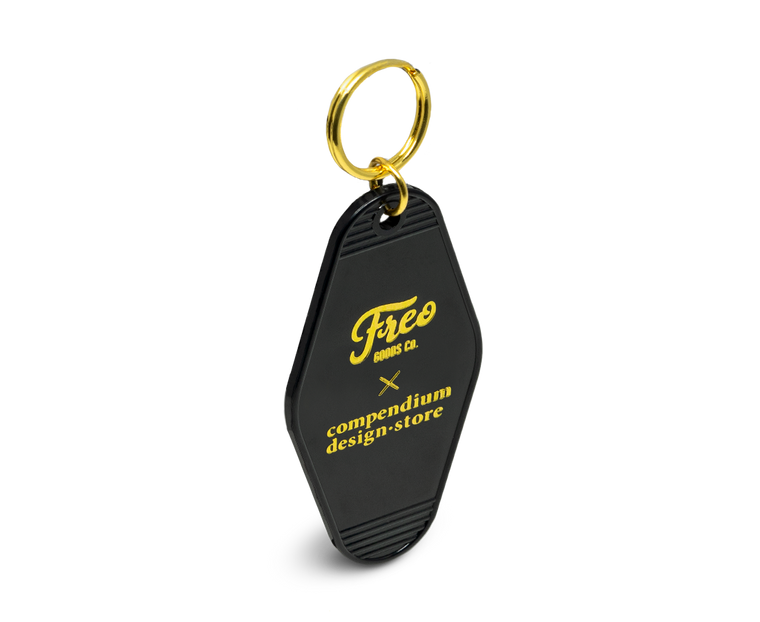Freo Goods Co x C·D·S Key Fob in Black & Gold