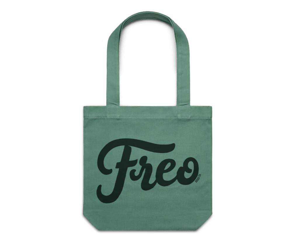 Freo Goods Co x C·D·S Tote Bag in Sage. Compendium Design Store, Fremantle. AfterPay, ZipPay accepted.