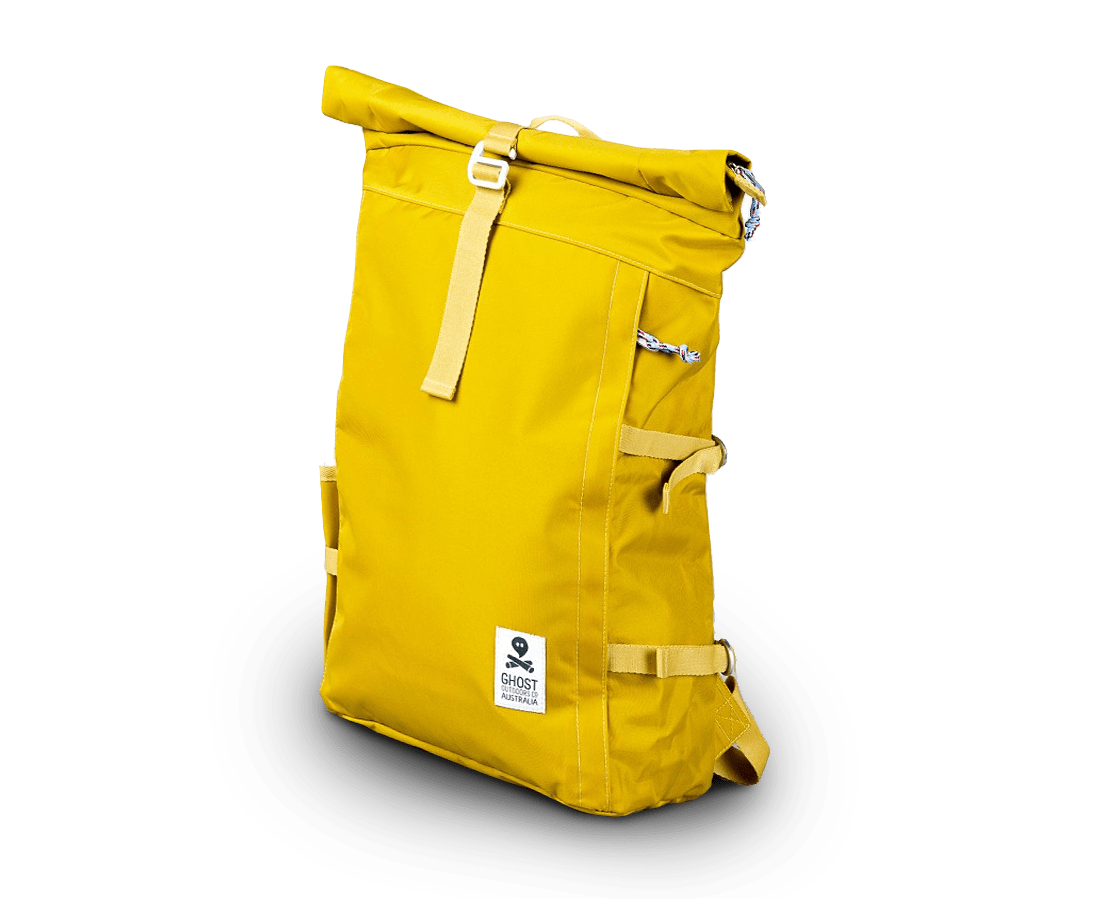 Ghost Outdoors The Ultimate Ochre Rucksack. Compendium Design Store, Fremantle. AfterPay, ZipPay accepted.