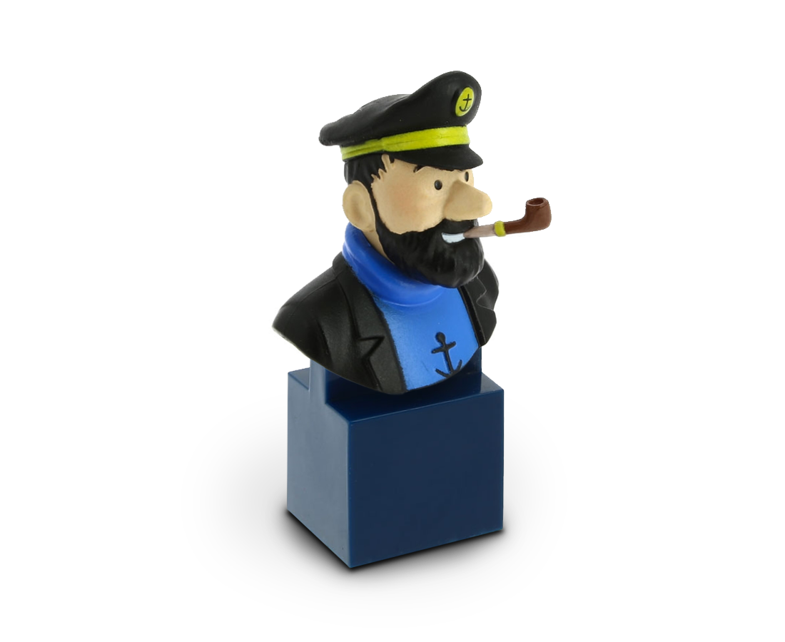Bust figurine of Captain Haddock. Moulinsart. Compendium Design Store. AfterPay, ZipPay accepted.