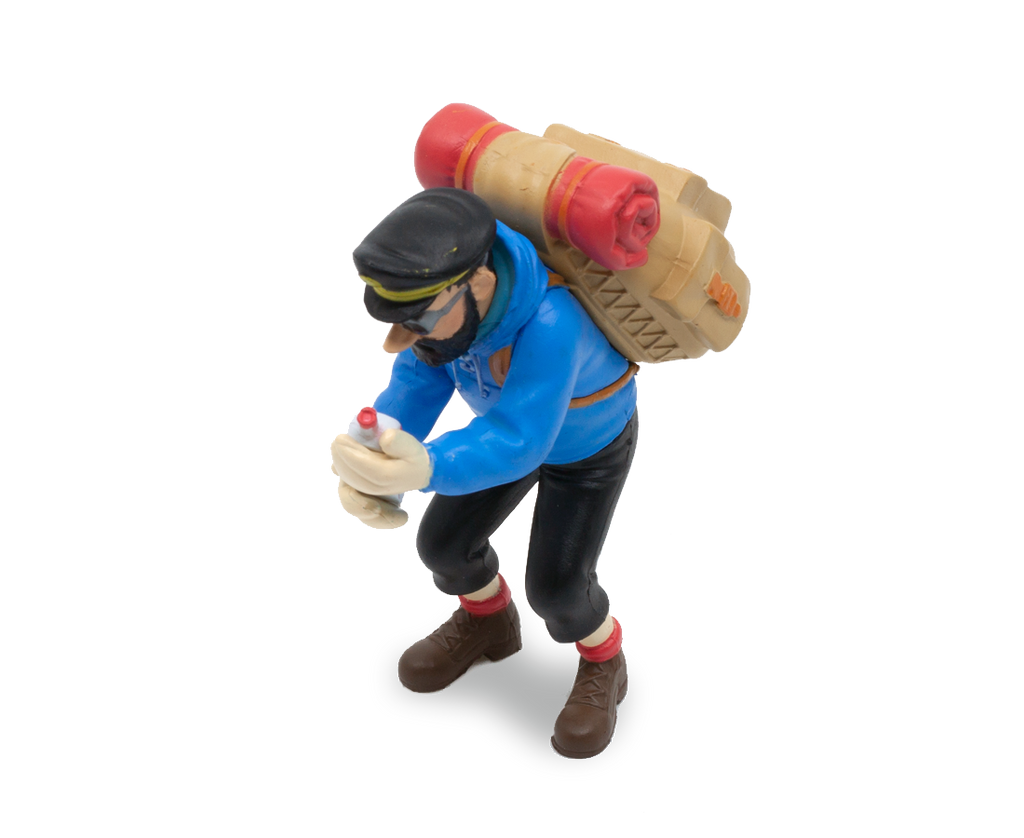 Captain Haddock & His Empty Bottle (Large) PVC Figurine 8cm. Compendium Design Store, Fremantle. AfterPay, ZipPay accepted.