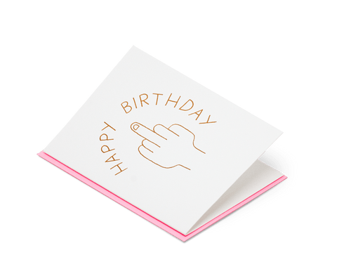 Happy Birthday Finger. Ashkahn. Compendium Design Store. AfterPay, ZipPay accepted.