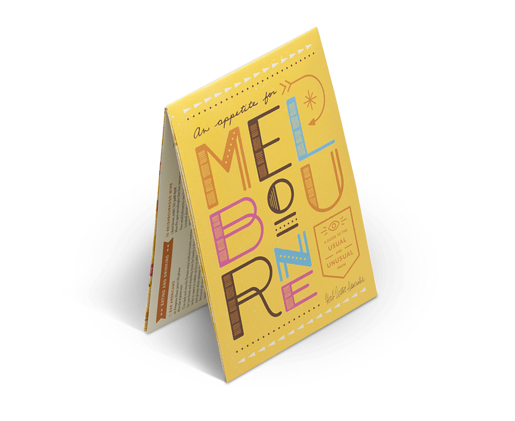 Herb Lester Novelty An Appetite for Melbourne. City Guide & Map by Herb Lester