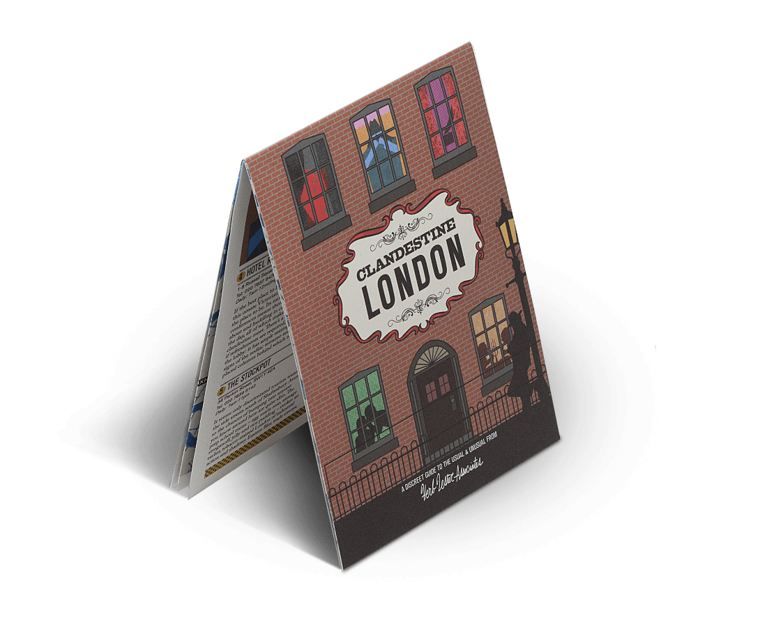 Clandestine London. City Guide & Map by Herb Lester. Compendium Design Store, Fremantle. AfterPay, ZipPay accepted.