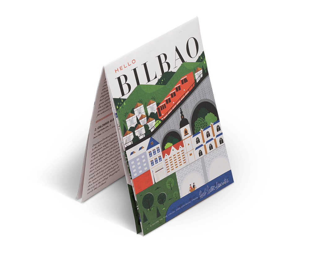 Hello Bilbao. City Guide & Map by Herb Lester. Compendium Design Store, Fremantle. AfterPay, ZipPay accepted.