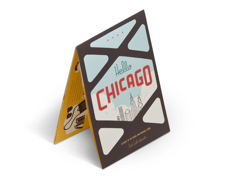 Hello Chicago. City Guide & Map by Herb Lester