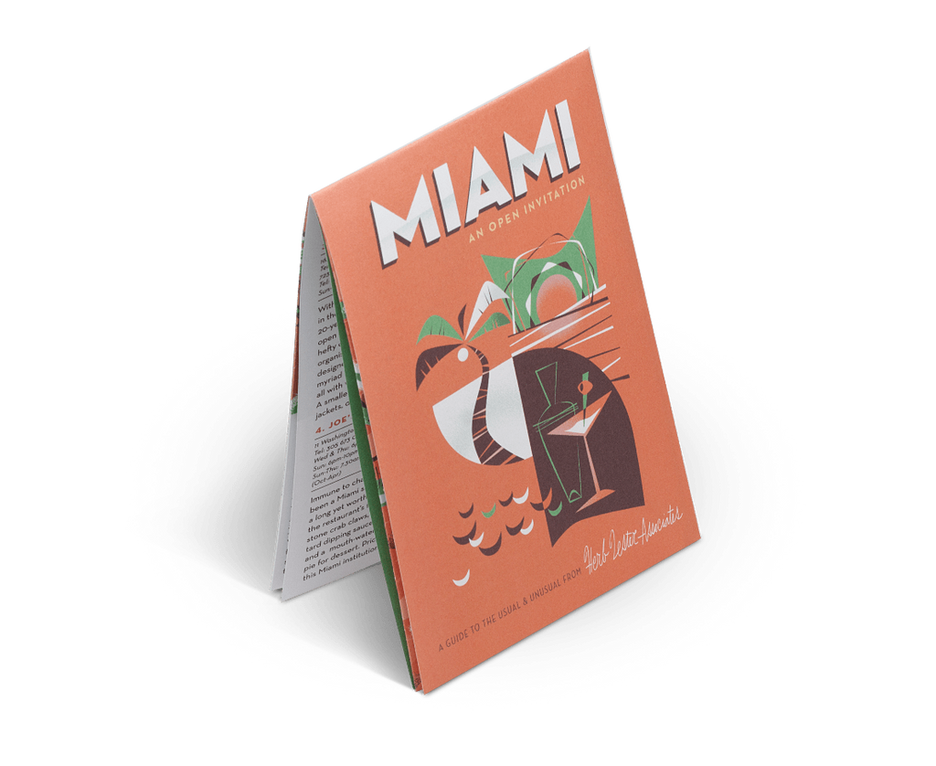 Miami: An Open Invitation. City Guide & Map by Herb Lester. Compendium Design Store, Fremantle. AfterPay, ZipPay accepted.