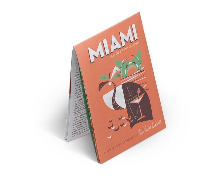 Miami: An Open Invitation. City Guide & Map by Herb Lester