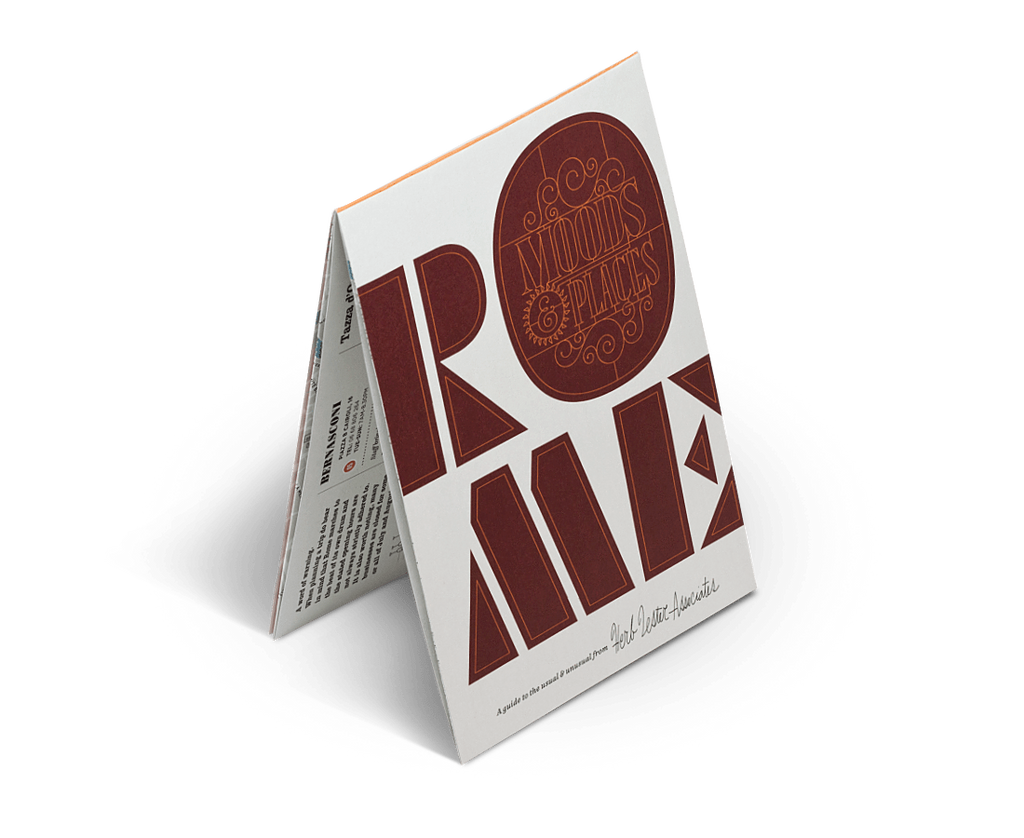Rome: Moods & Places. City Guide & Map by Herb Lester. Compendium Design Store, Fremantle. AfterPay, ZipPay accepted.