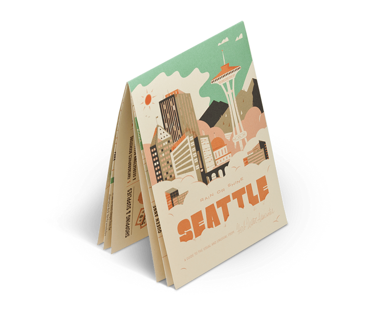 Seattle: Rain or Shine. City Guide & Map by Herb Lester