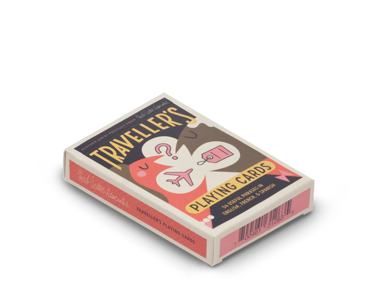 Travel phrasebook playing cards by Herb Lester