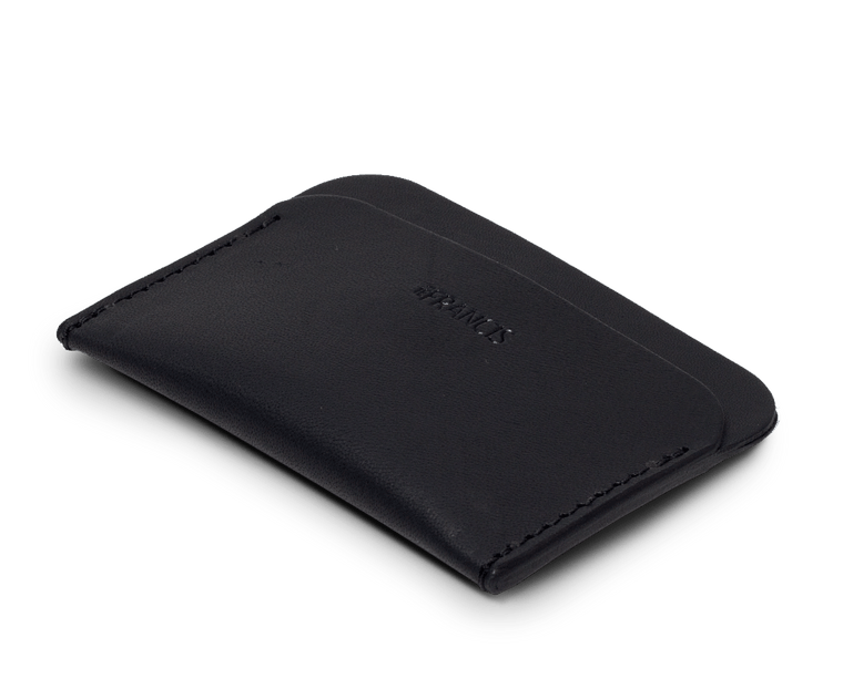 Isaac Francis Three Pocket Wallet in Black