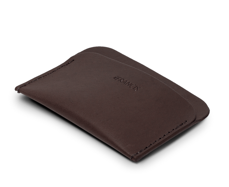 Isaac Francis Three Pocket Wallet in Dark Brown