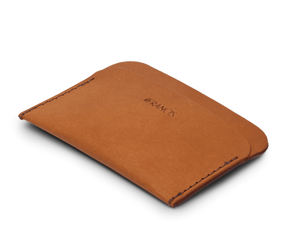 Isaac Francis Three Pocket Wallet in Terracotta. Compendium Design Store, Fremantle. AfterPay, ZipPay accepted.