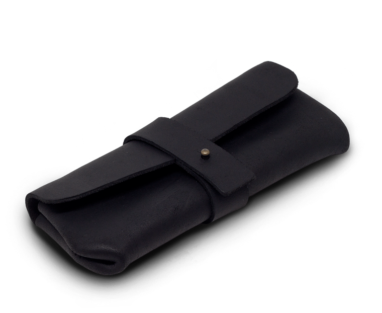 Isaac Francis Leather Eyewear Case Large in Black