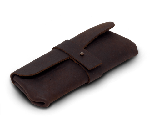 IEFrancis for C·D·S · Leather glasses case Large in Brown
