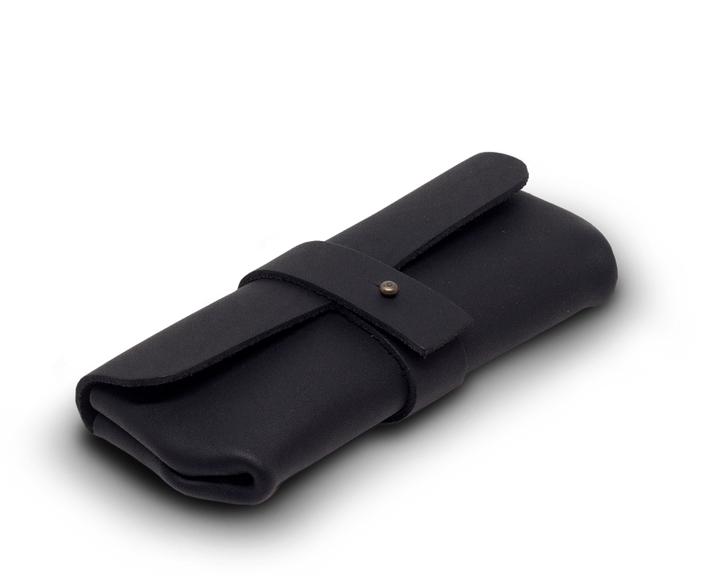 IEFrancis Accessories IEFrancis for C·D·S · Leather glasses case Small in Black