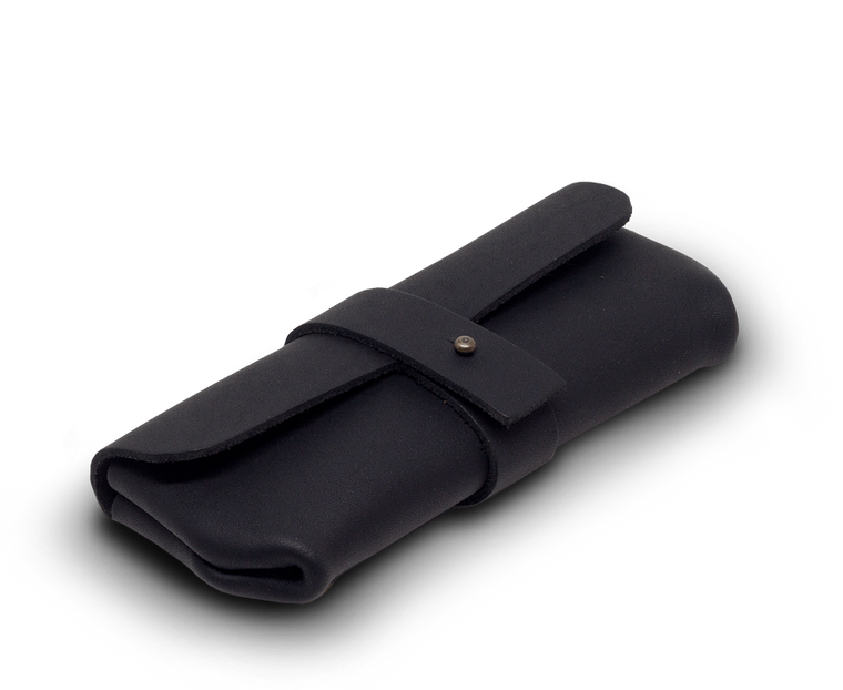 Isaac Francis Leather Eyewear Case Small in Black