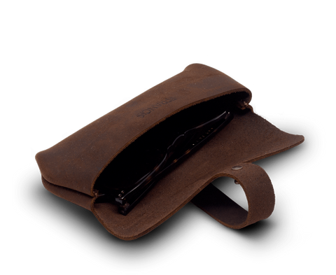 IEFrancis Accessories IEFrancis for C·D·S · Leather glasses case Small in Brown