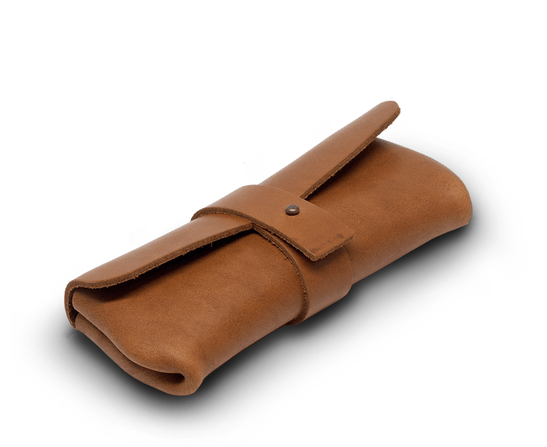 IEFrancis Accessories IEFrancis for C·D·S · Leather glasses case Small in Tan