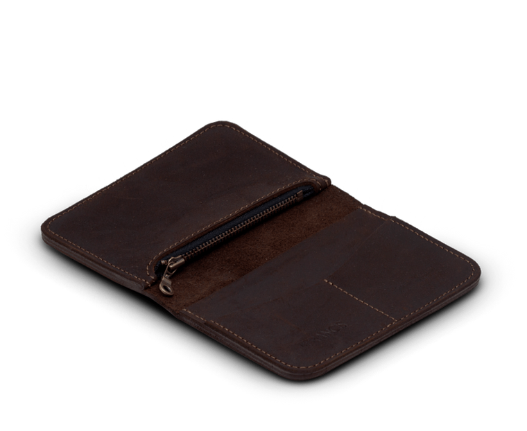 IEFrancis Medium Leather zip wallet in Brown