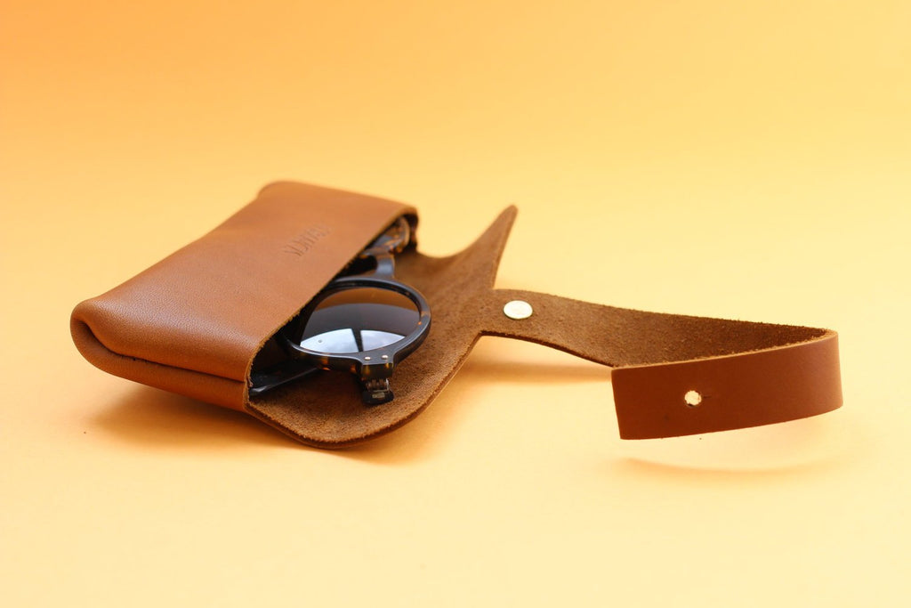 Isaac Francis Leather Eyewear Case Small in Black. Isaac Francis. Compendium Design Store. AfterPay, ZipPay accepted.