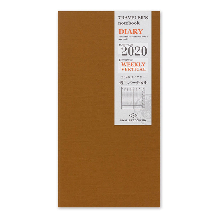 Travelers Company Notebook Diary 2020 Weekly Vertical Second Half Refill (Regular size)