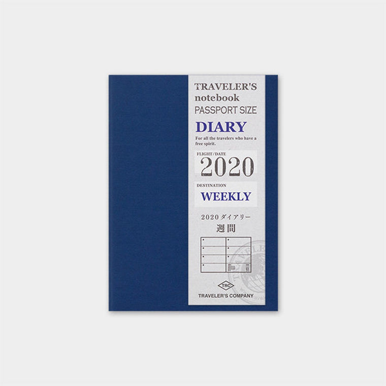 Travelers Company Notebook Diary 2020 Weekly Second Half Refill (Passport size)