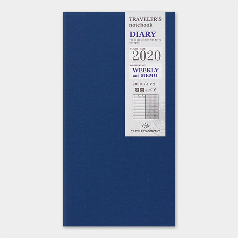Travelers Company Notebook Diary 2020 Weekly + Memo Second Half Refill (Regular size)