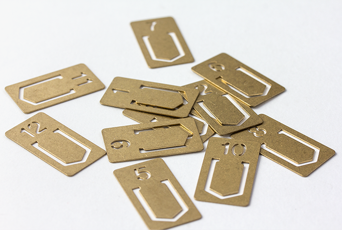 Travelers Company Japan Brass Number Paper Clips Set of 12