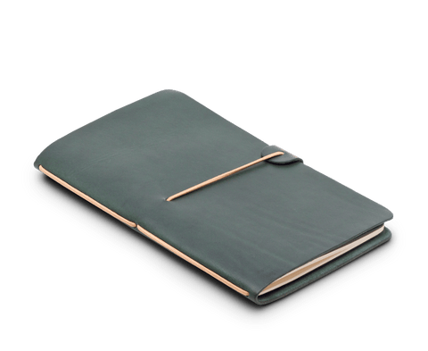 Isaac Francis Leather Notebook Cover in Racing Green (Limited Edition)