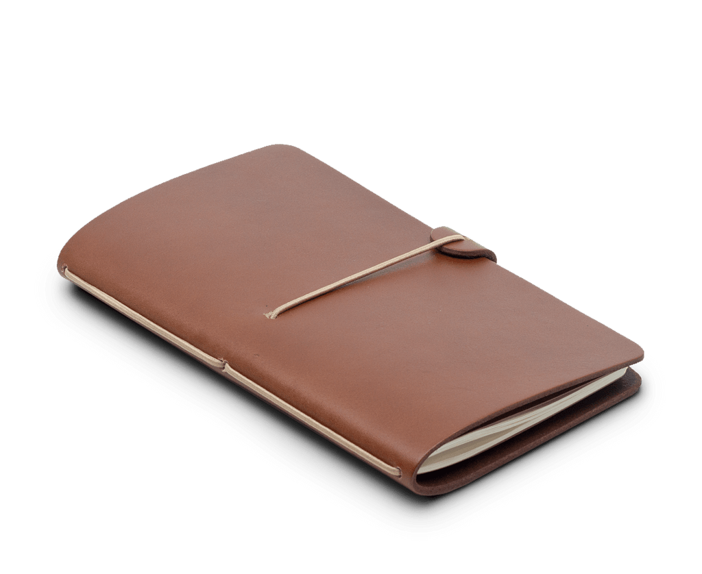 Isaac Francis Leather Notebook Cover in Tan. Isaac Francis. Compendium Design Store. AfterPay, ZipPay accepted.
